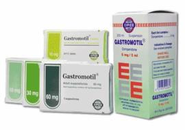 Gastromotil 60mg supp. (cancelled)