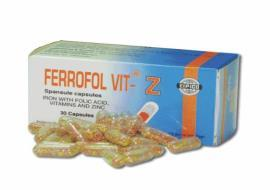 Ferrofol vit-z 30 cap.